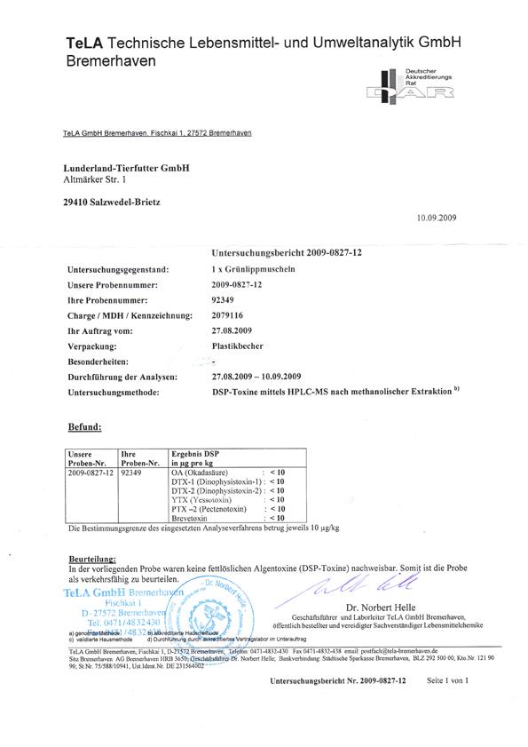 lunderland grünlippmuschelextrakt 100 g